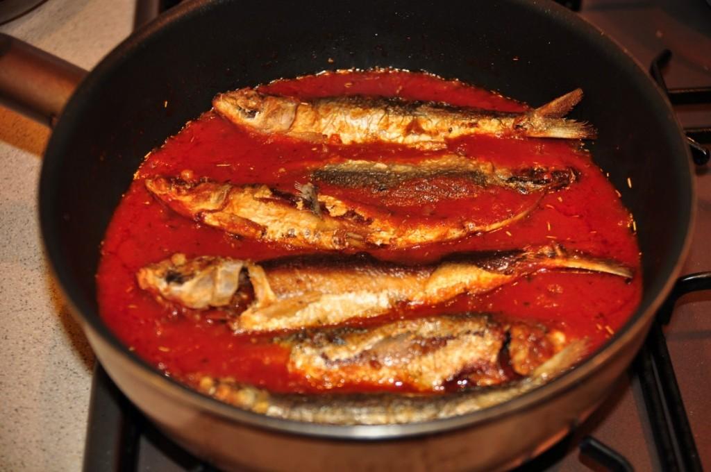 Sardine sos tomat