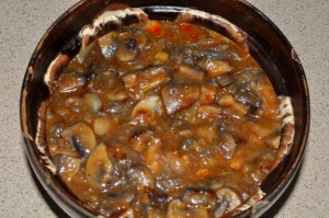 Mushroom stew with sour cream