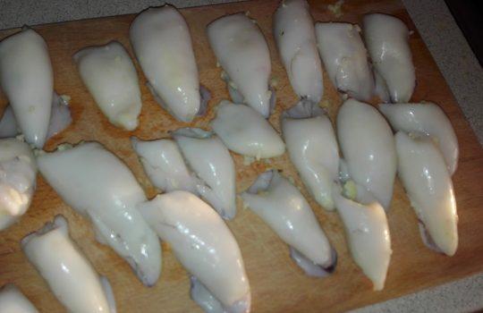 orez cu fructe de mare calamar umplut